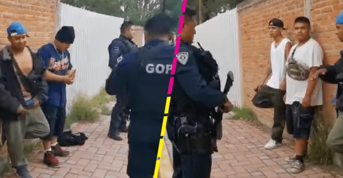 Puro verso pesado: Jóvenes rapean en Tlaxcala para que los policías no los detuvieran