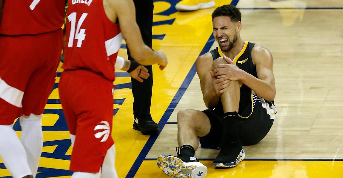 ¡La maldición de Golden State! Klay Thompson se desgarra el tendón de Aquiles; se pierde toda la temporada con los Warriors