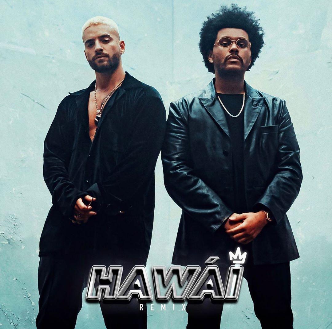 """The Weeknd y Maluma se unen (inesperadamente) para el remix de """"Hawái"""" y Twitter explotó"""