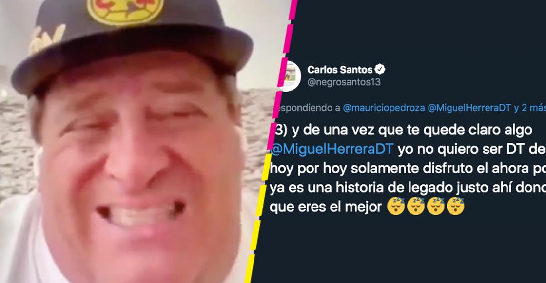 El 'Piojo' Herrera y el 'Negro' Santos se enfrascaron en un nuevo pleito por el América