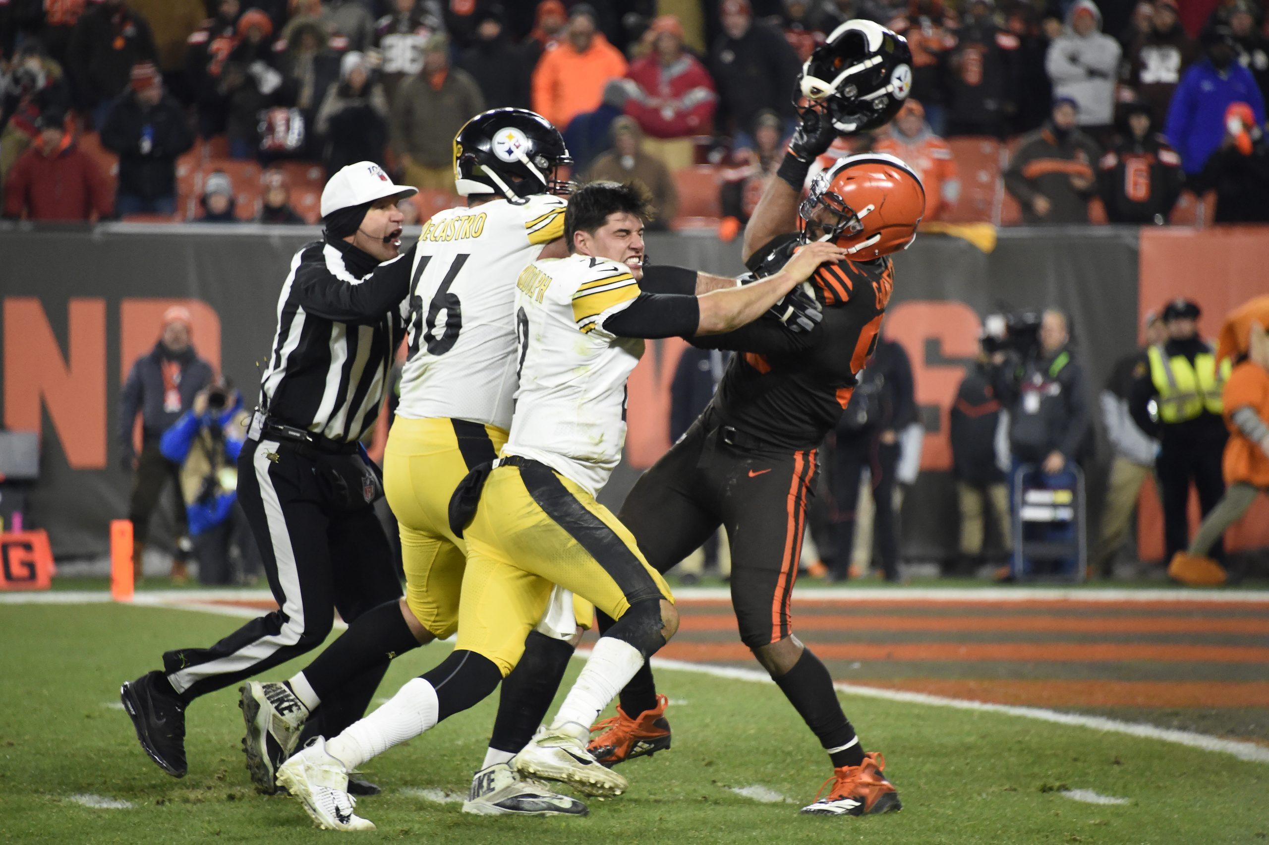 Mason Rudolph Steelers vs Browns