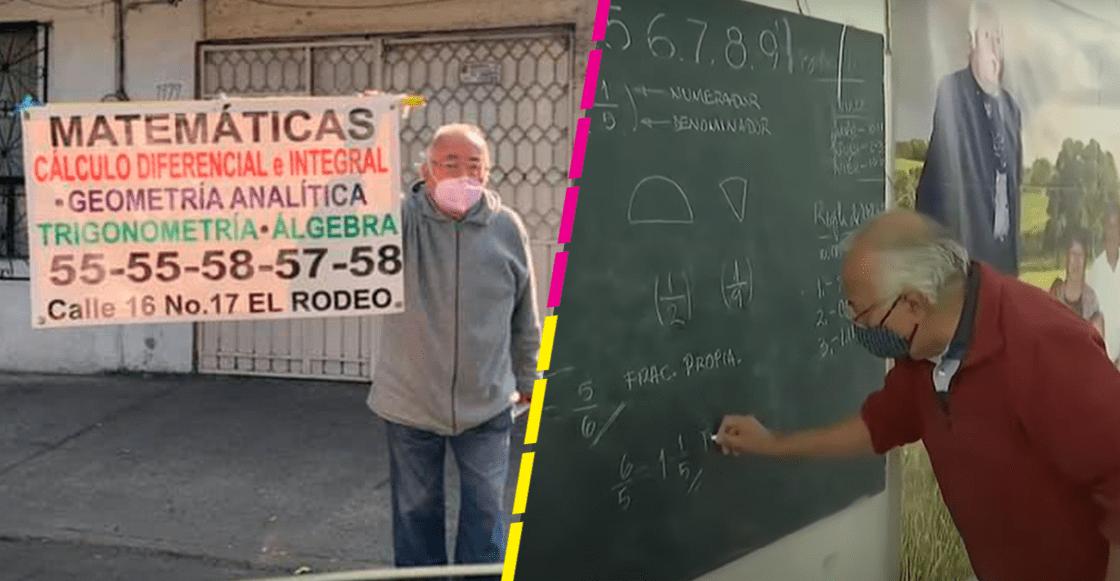 ¡Lo logró! Abuelito que quería dar clases de matemáticas ya tiene alumnos y hasta una computadora