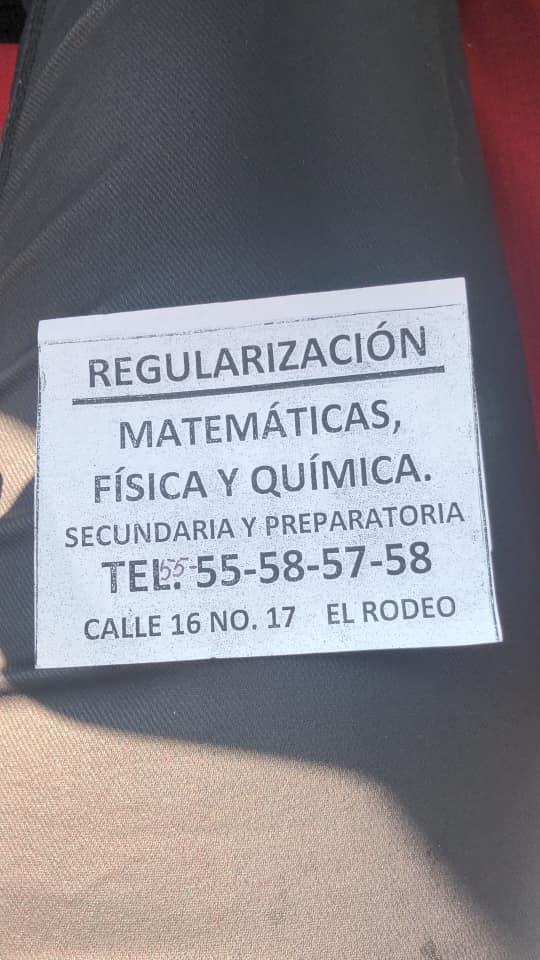 Abuelito pide ayuda con cartel para dar clases de matemáticas en la CDMX