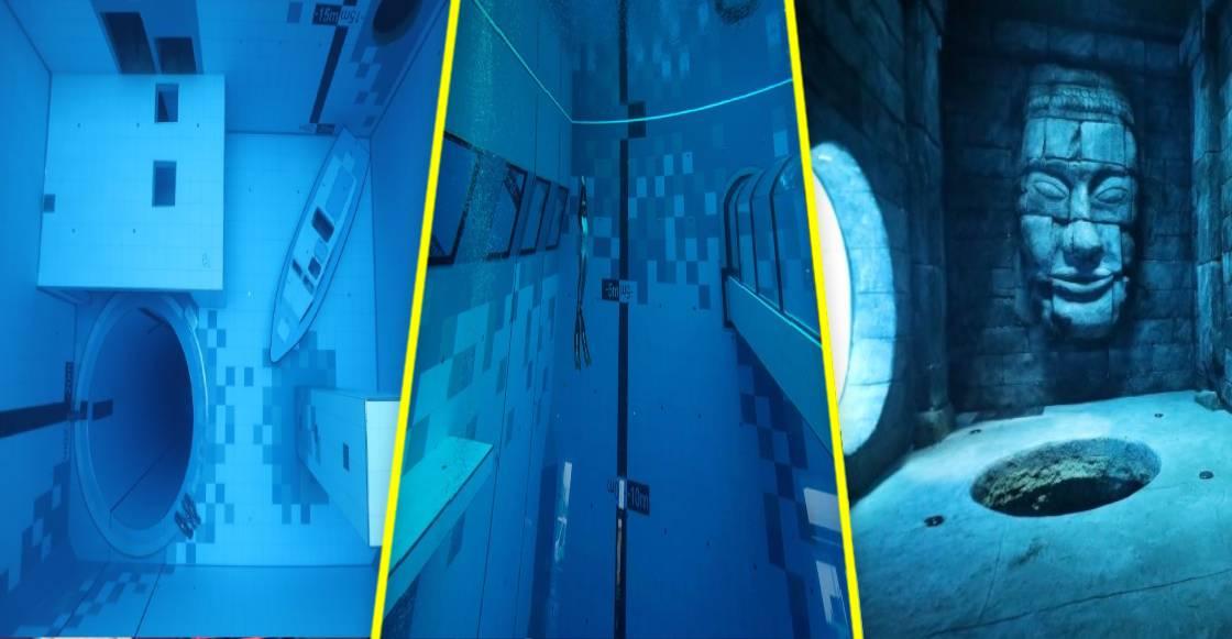 Polonia inauguró 'Deepspot', la alberca más profunda del mundo ¡con ruinas mayas!