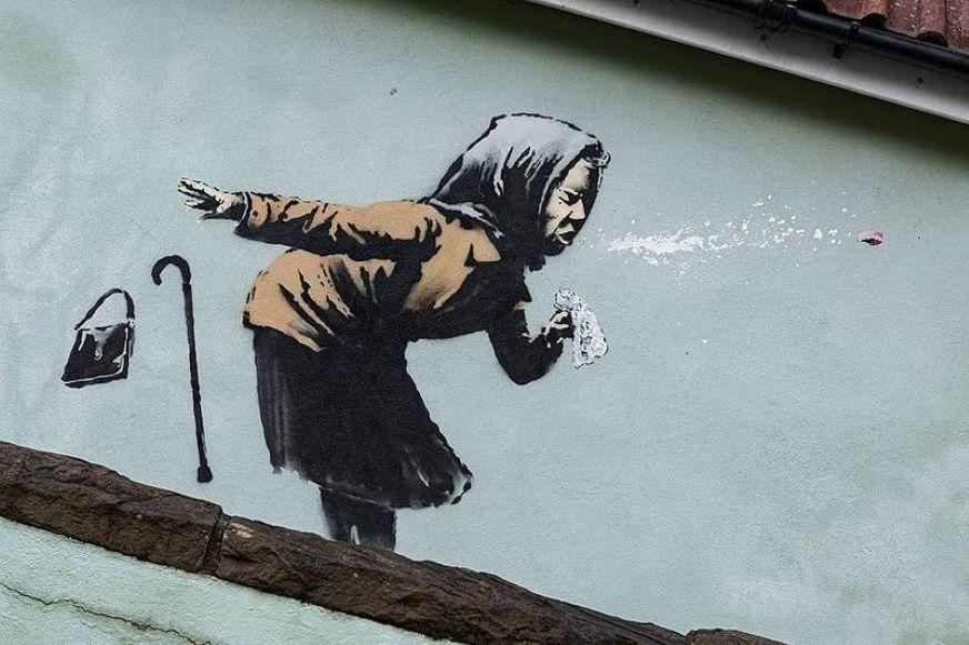 '¡Achú!' El humor de Banksy reflejado en la fuerza de una mujer estornudando