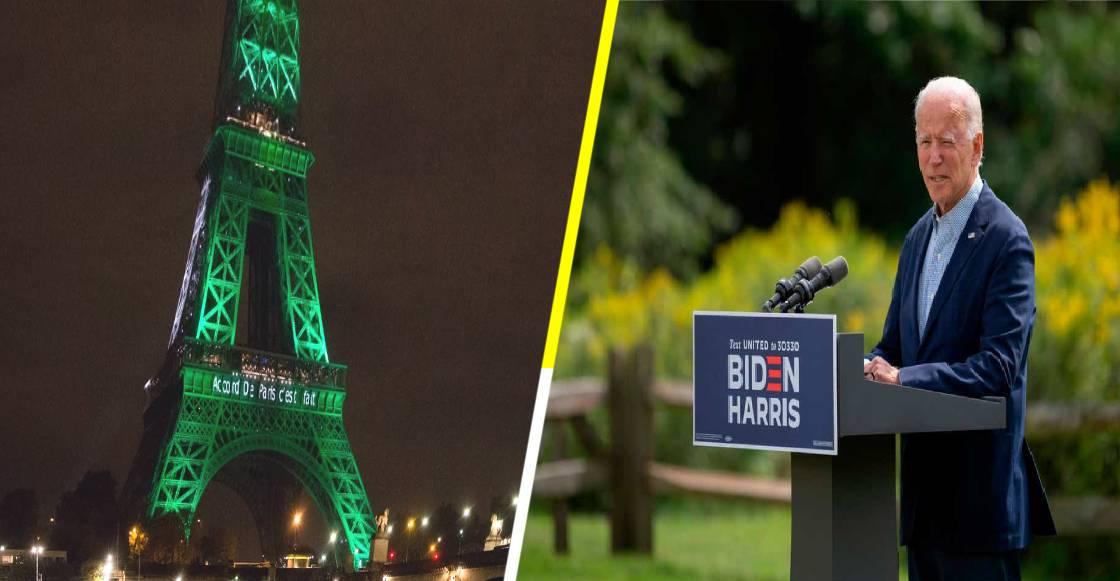 ¡Bien ahí! Biden promete regresar al Acuerdo de París desde el primer día