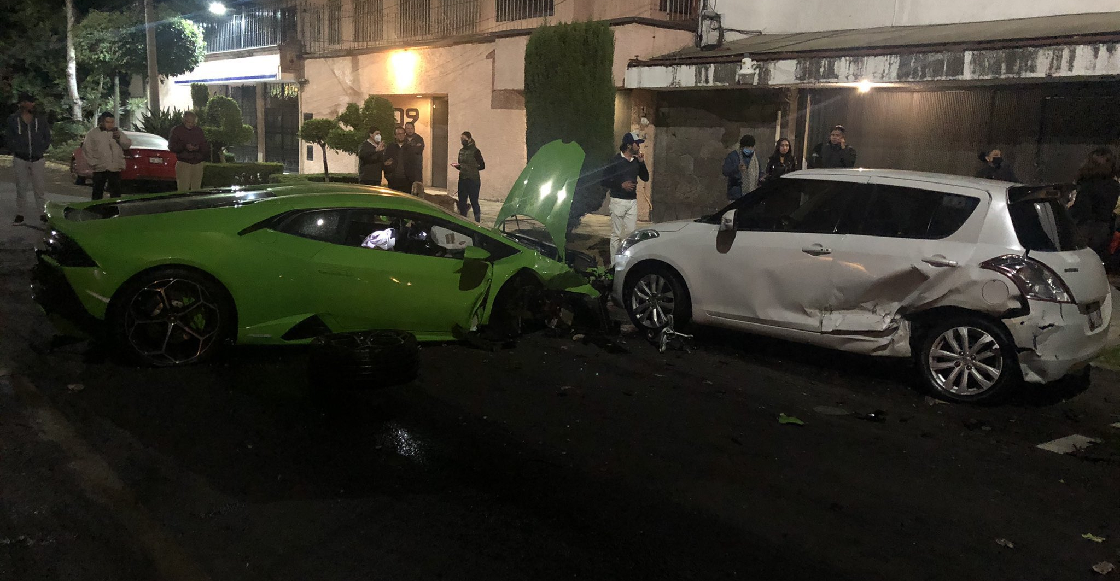 Conductor choca un Lamborghini en Polanco y se da a la fuga