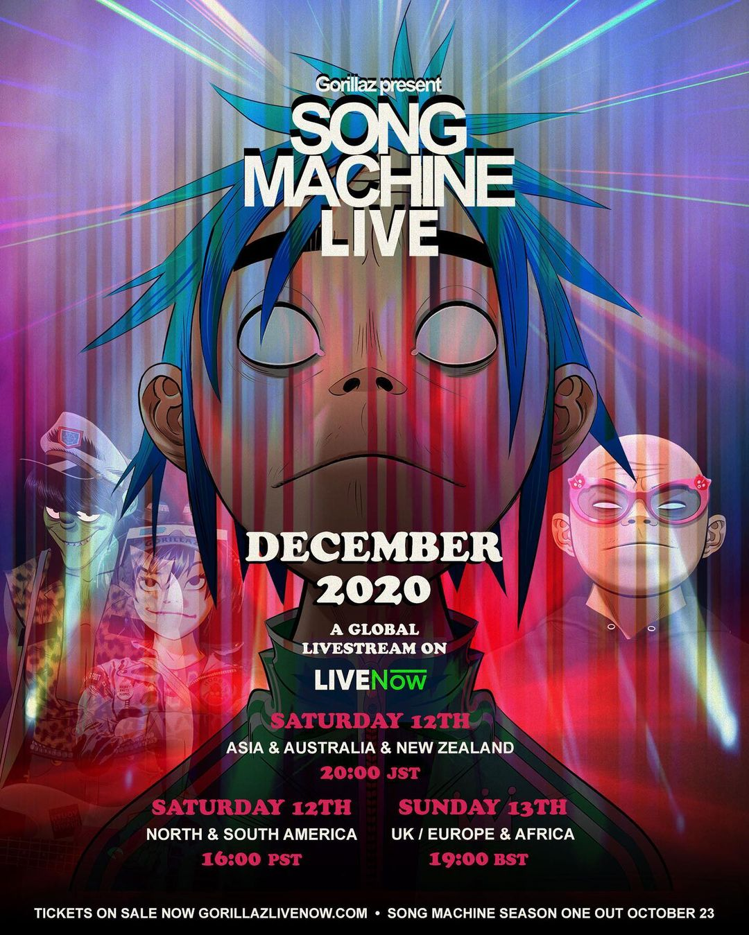¡Te regalamos boletos para el concierto 'Song Machine Live' de Gorillaz!
