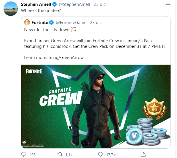 Green Arrow Is Coming To Fortnite And We Tell You How To Get The Character Skin Latest News Breaking News Top News Headlines The next crew pack bundle release date is december 31st 2020. green arrow is coming to fortnite and