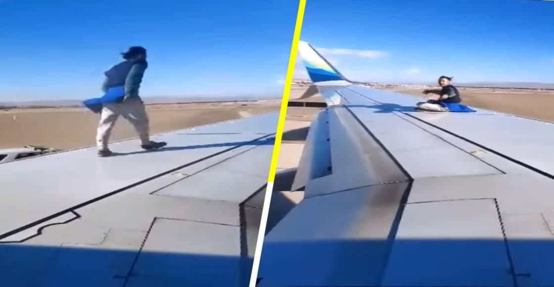 ¡WTF! Un hombre se aferró al ala de un avión que despegaba en Las Vegas