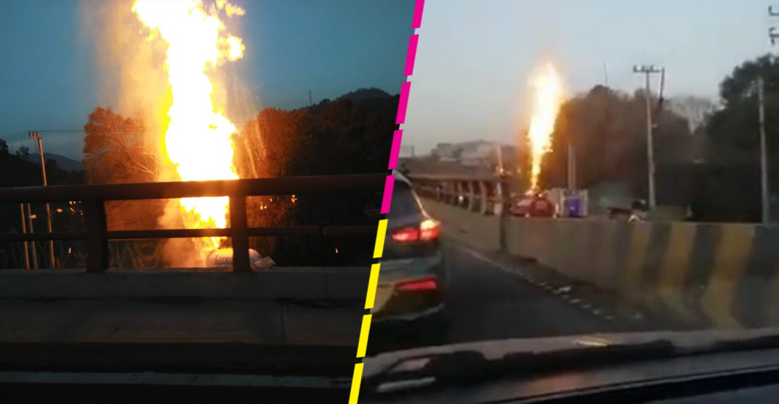 Se incendia pipa de gas en la autopista México-Pachuca a la altura de Tlalnepantla