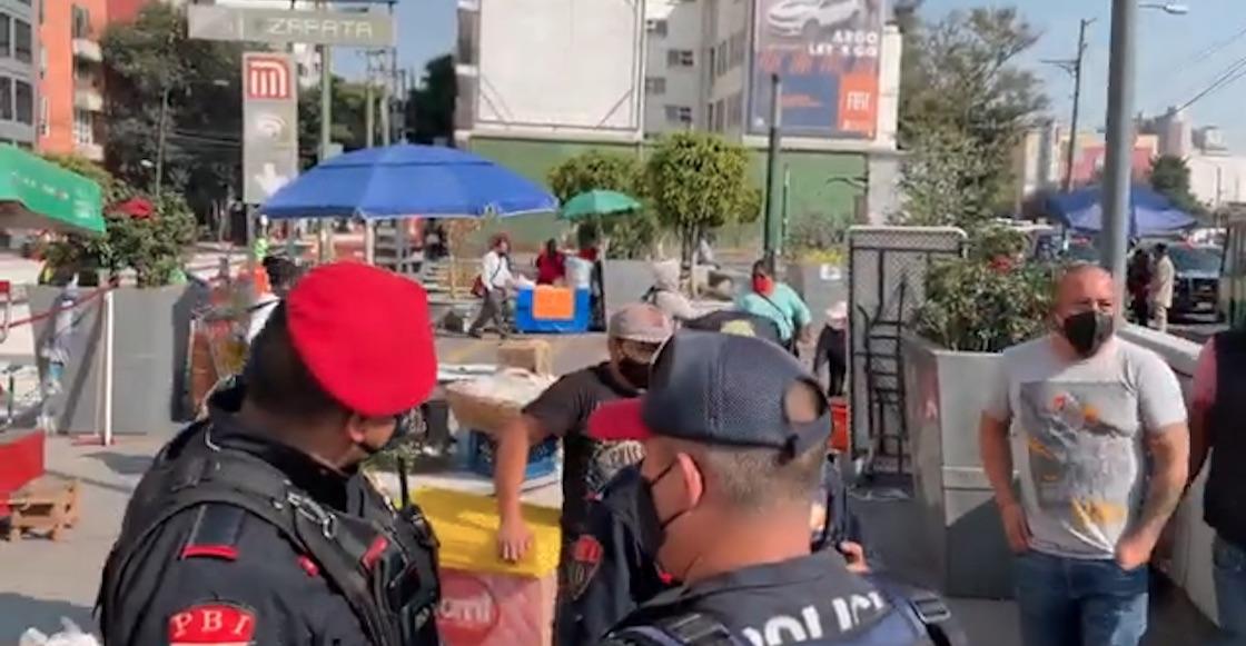 metro-zapata-denuncia-agresion-vendedores
