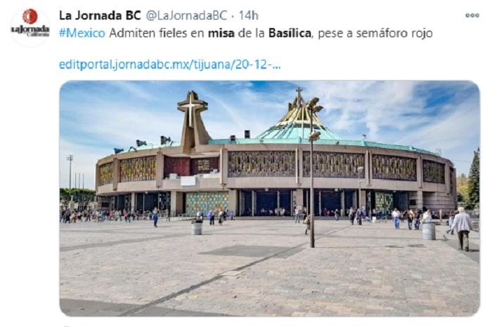 misa basilica pandemia semáforo rojo
