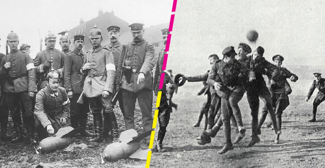 El día en que el futbol logró una tregua en la Primera Guerra Mundial para celebrar Navidad