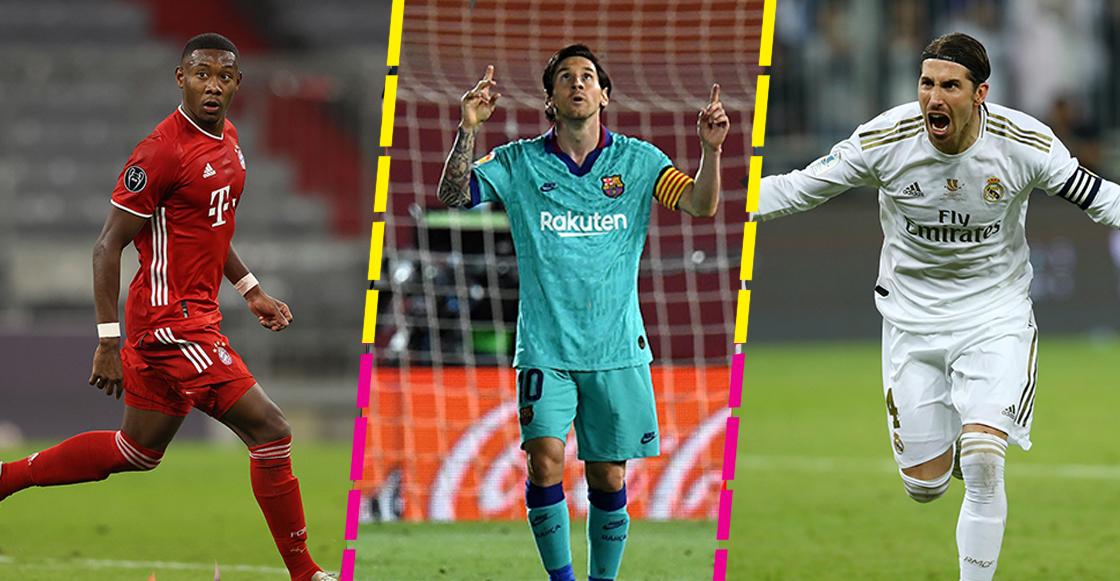 David Alaba, Lionel Messi y Sergio Ramos, contrato