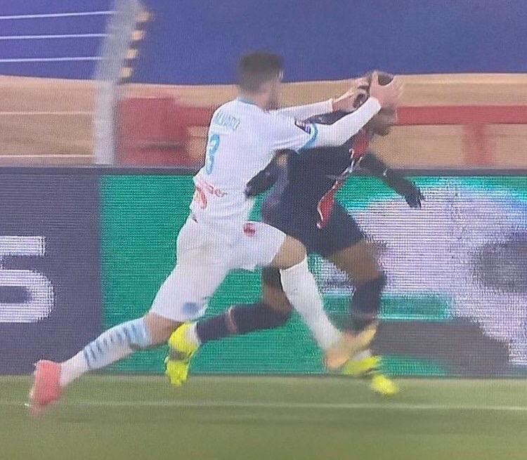 Álvaro González y Neymar PSG vs Marsella