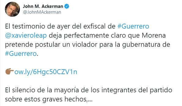 John Ackerman Morena Guerrero