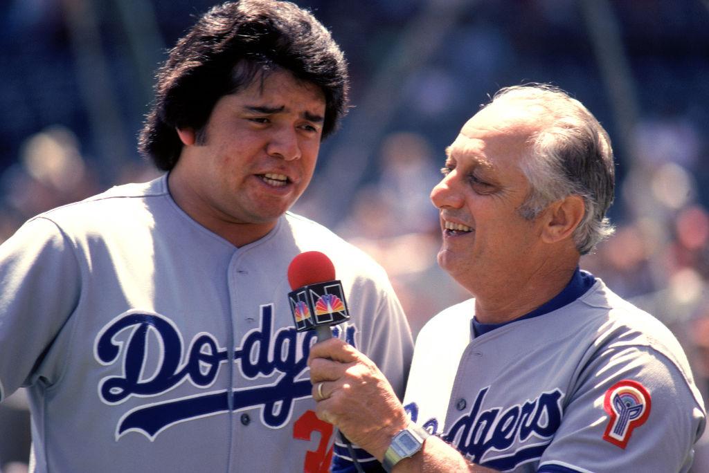 Fernando Valenzuela Tom Lasorda Dodgers