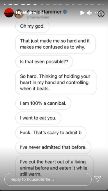 ¿El actor Armie Hammer realmente confesó ser un caníbal?