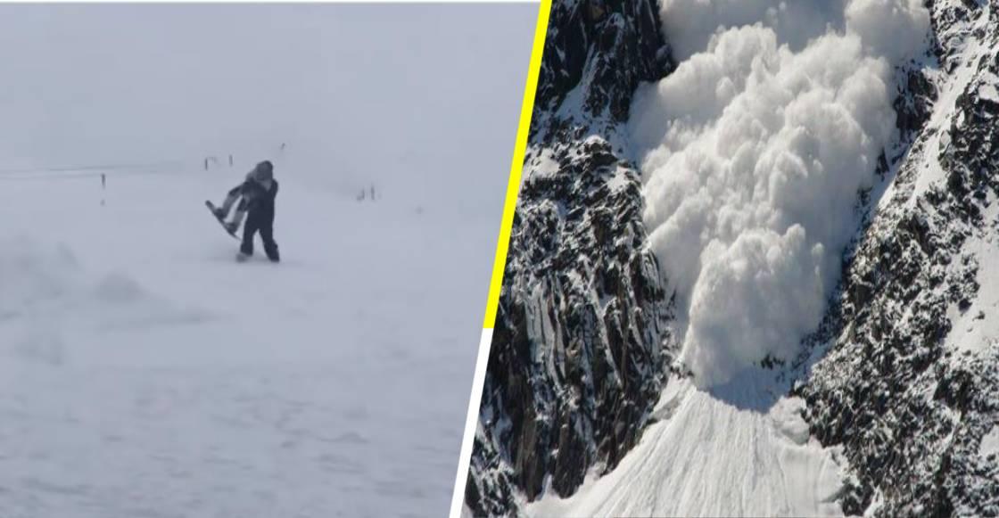 Avalancha sorprende a esquiadores y un papá protege a su hijo con su propio cuerpo