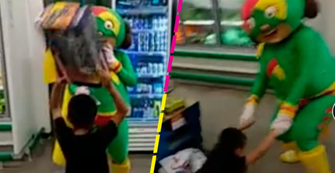 Mi México mágico: Botarga de Mamá Lucha se enfrenta a un niño en una 'pelea' épica