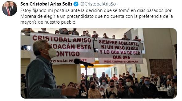 cristobal arias michoacan morena