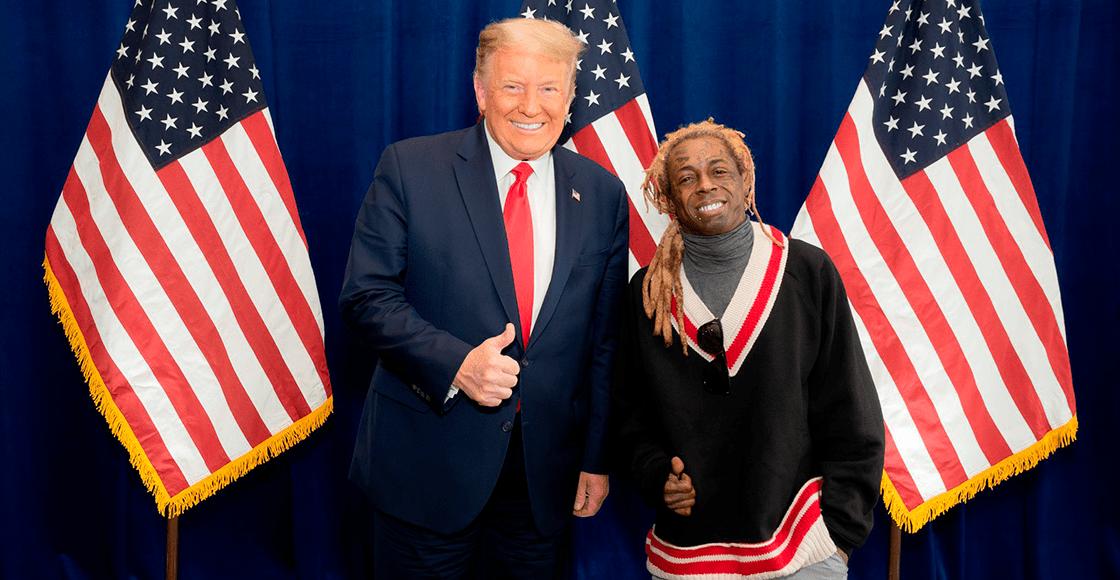 Donald Trump indulta a Lil Wayne antes de partir de la Casa Blanca