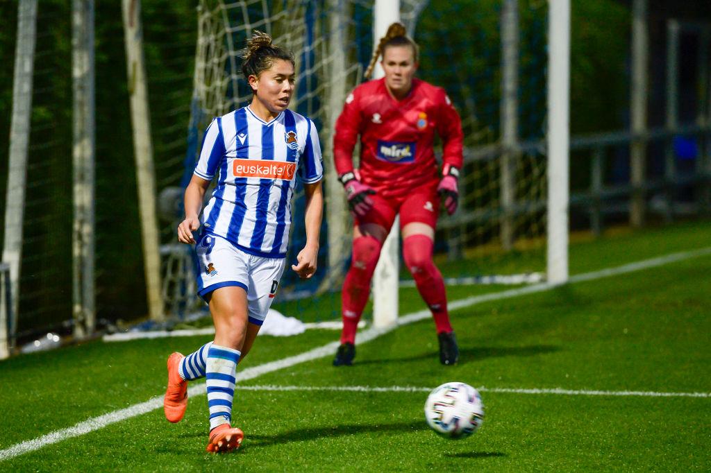 Kiana Palacios anotó por primera vez en la temporada con la Real Sociedad