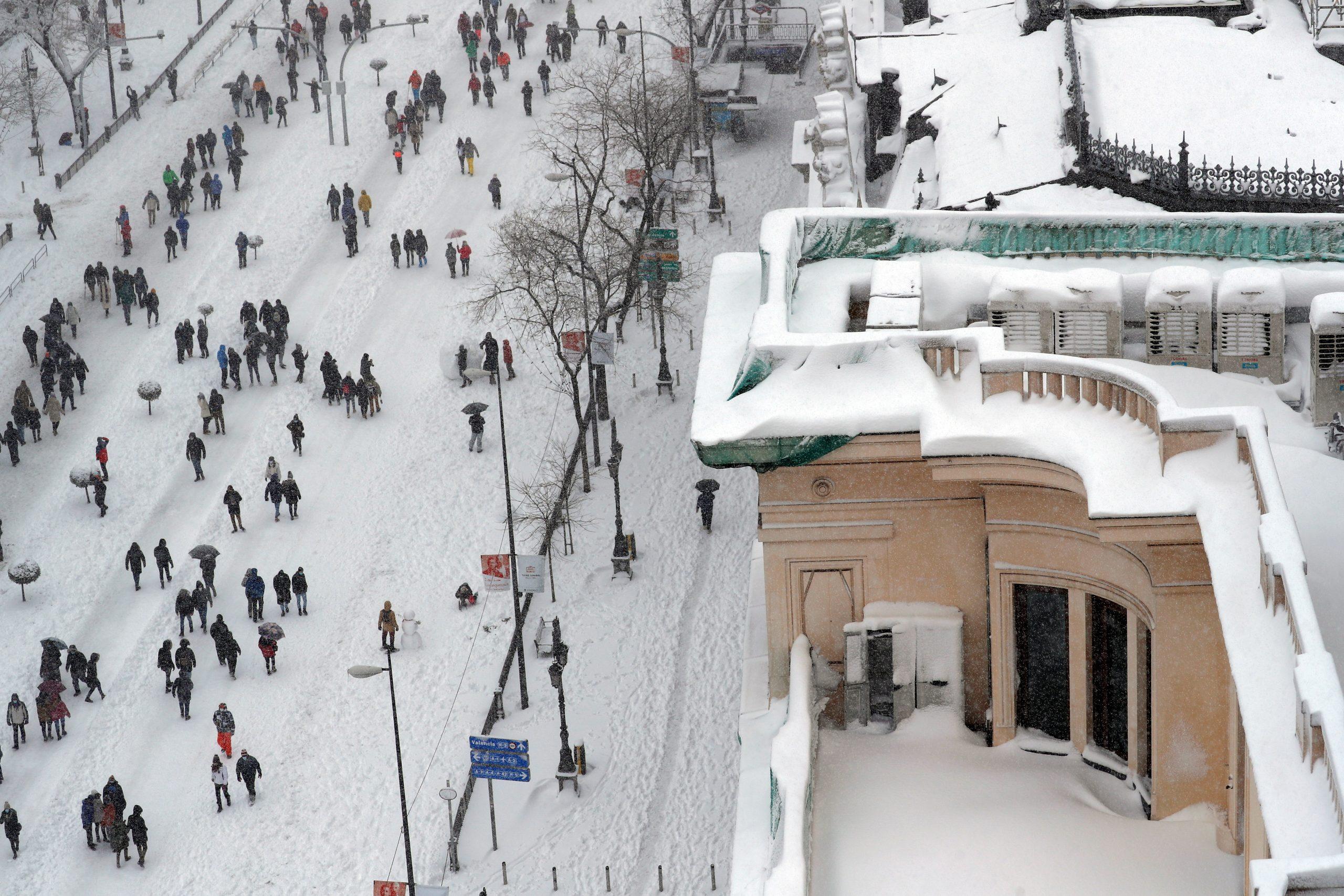 En imágenes: La histórica nevada en España por el paso de 'Filomena'
