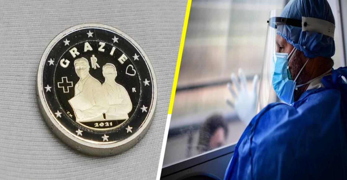 ¡Merecidísimo! Italia acuña moneda de dos euros en honor al personal médico