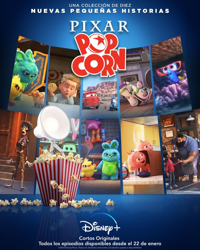 'Pixar Popcorn': Disney+ estrenará 10 nuevos cortos con nuestros personajes favoritos