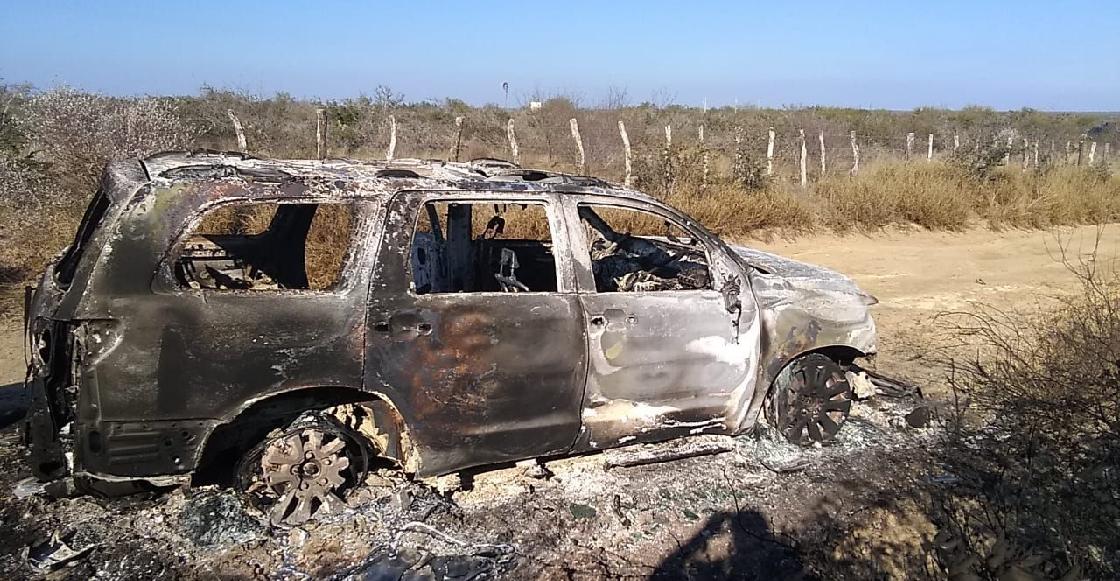Autoridades de Tamaulipas encuentran 19 cuerpos calcinados en una camioneta