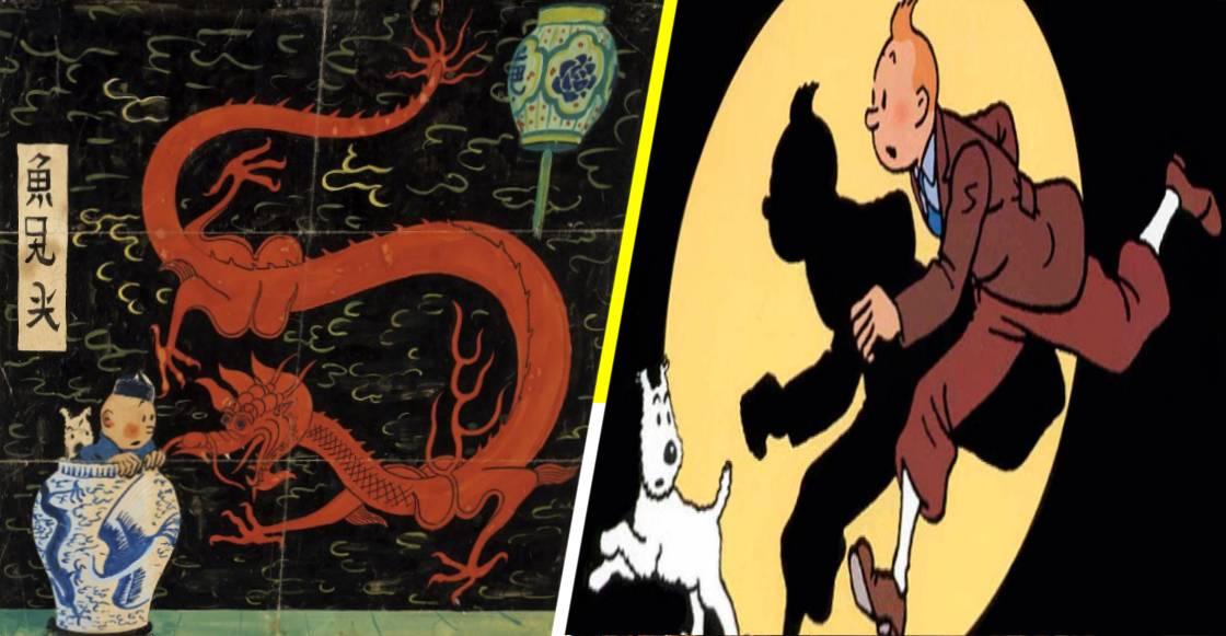 ¡Tintín le gana a Superman! La portada del 'Loto Azul' rompe récord en subasta
