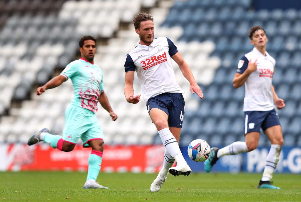 Ben Davies con el Preston North End