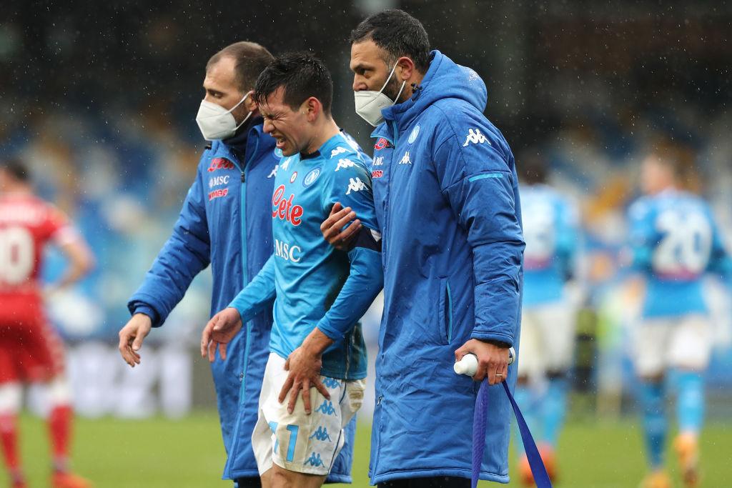 chucky Lozano lesionado con el Napoli