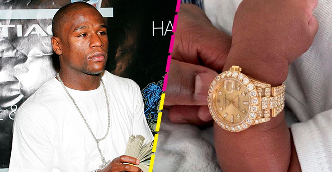 Floyd Mayweather le regaló un reloj a su nieto