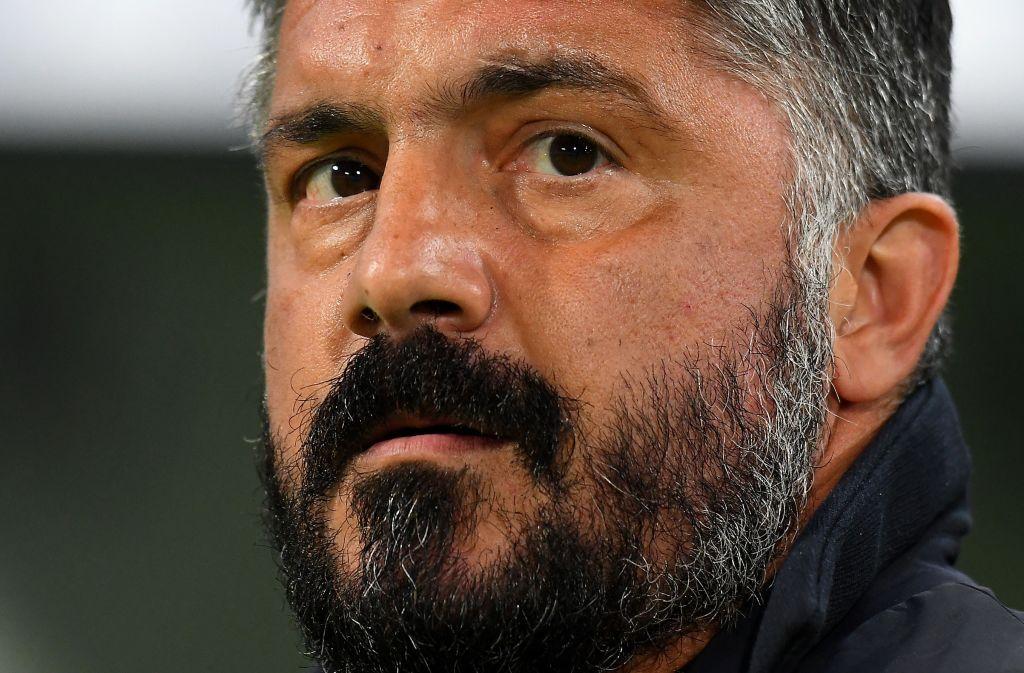 Gennaro Gattuso en la previa de la Europa League
