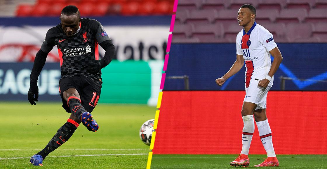 Goles de Mane y Mbappe en octavos de final de Champions League