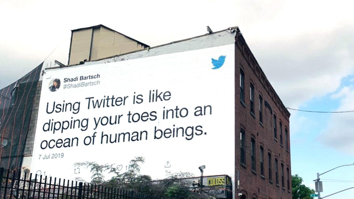 Mural de Twitter en Nueva York