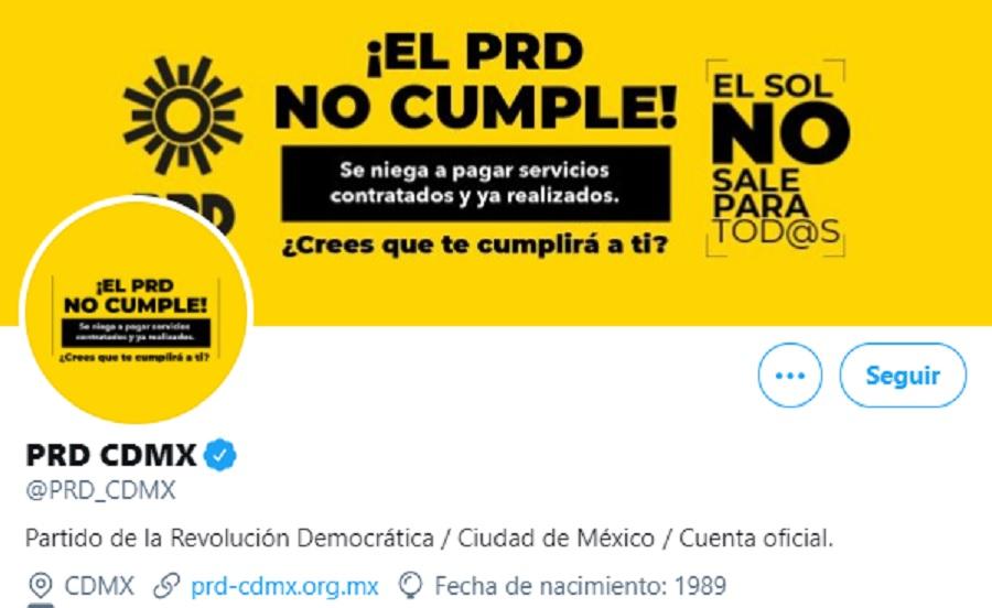 PRD cuenta oficial
