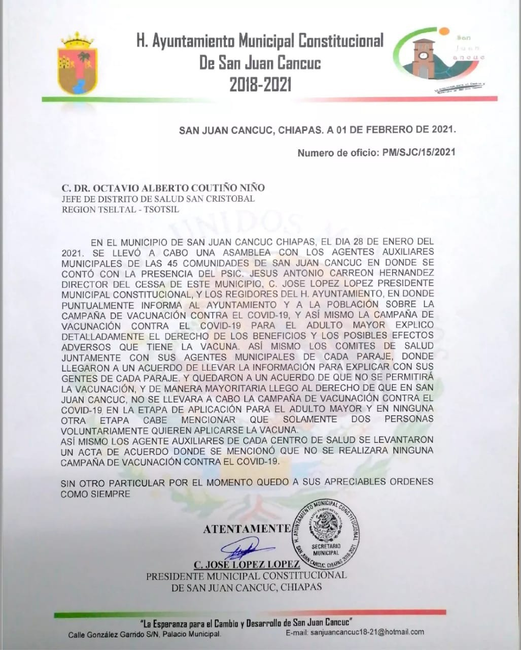 cancuc-rechaza-vacunacion-chiapas