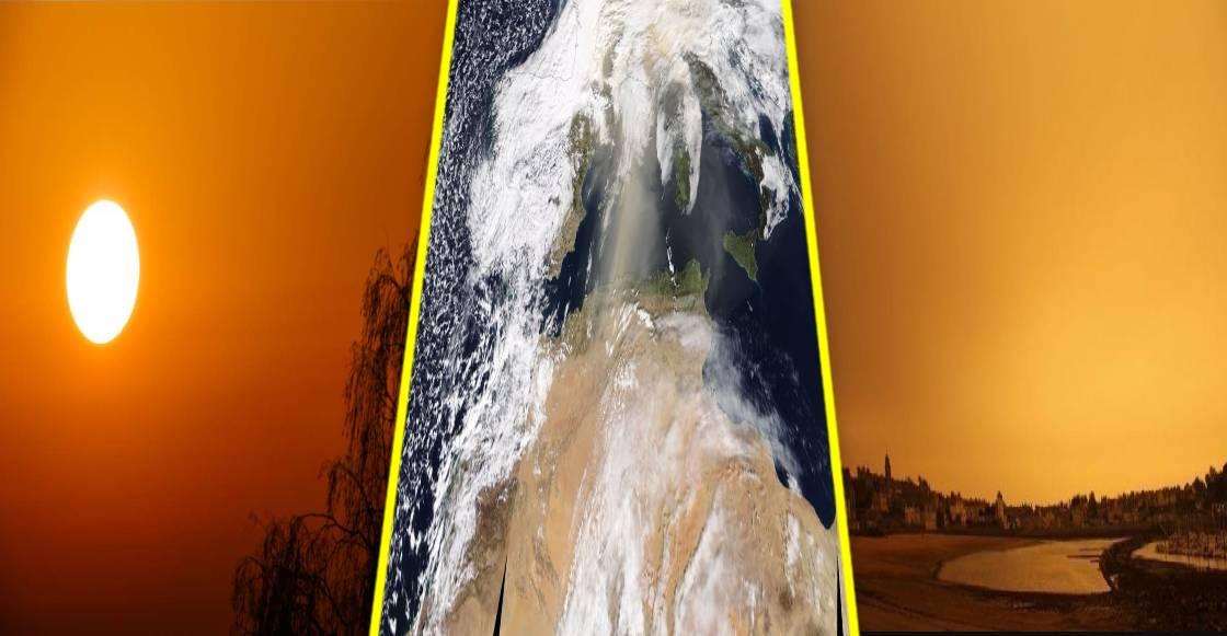 El extraño fenómeno natural que dejó el cielo amarillo en Europa