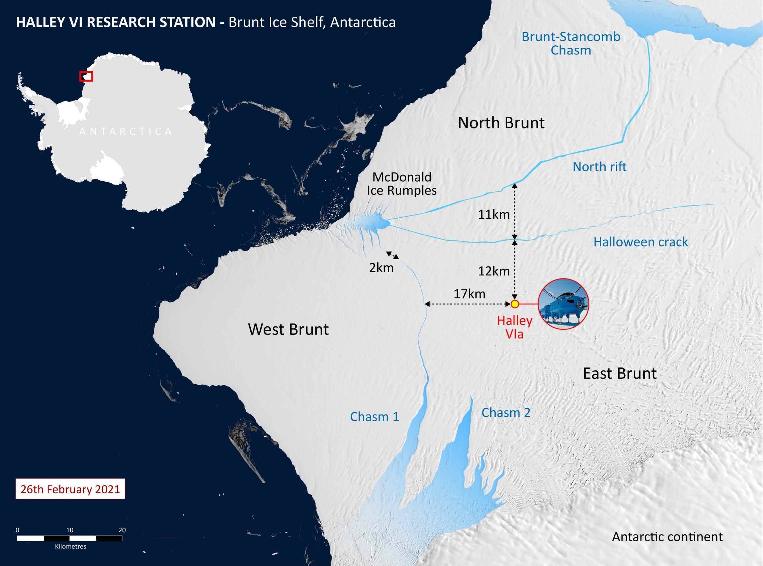 ¿El 2021 será mejor?: Iceberg del tamaño de Londres se desprende de la Antártida