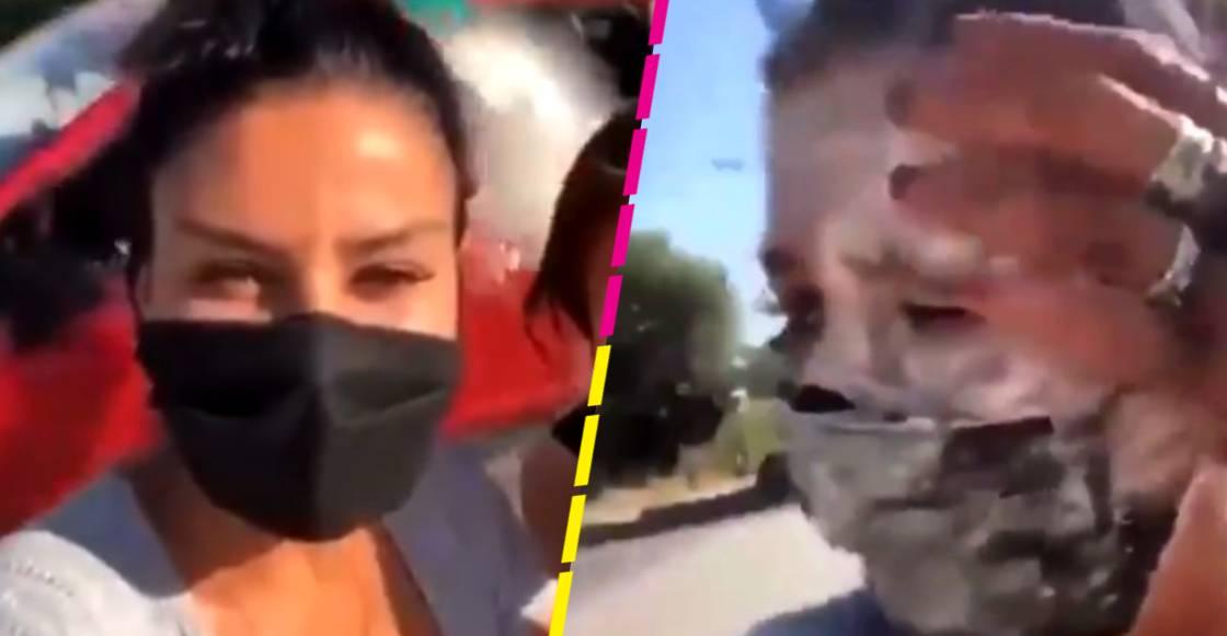 Lanzan harina a la diputada Nay Salvatori durante una transmisión en vivo