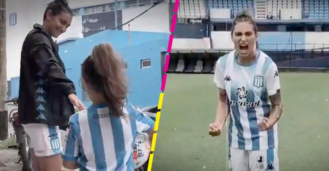 A cumplir sueños de la infancia: Emotiva presentación de Luana Muñoz con Racing