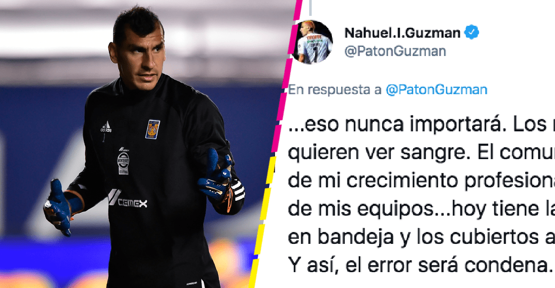 Nahuel Guzmán explota en Twitter por el gol recibido desde media cancha