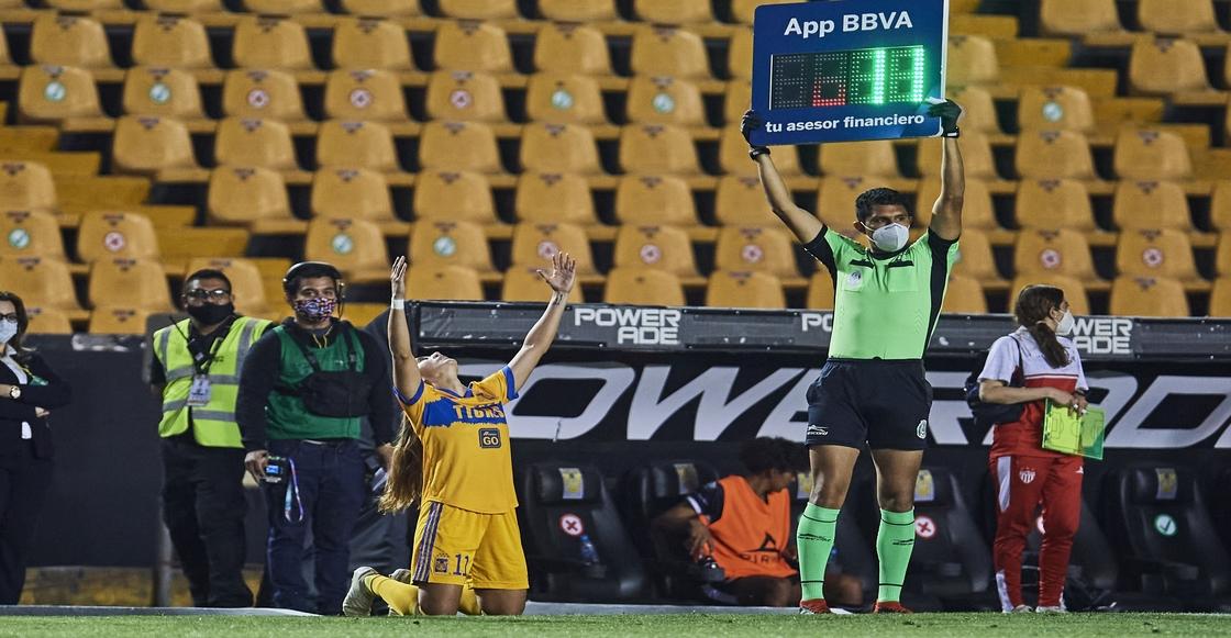 ¡Qué emotivo! Nayeli Rangel volvió a jugar con Tigres tras un año de ausencia