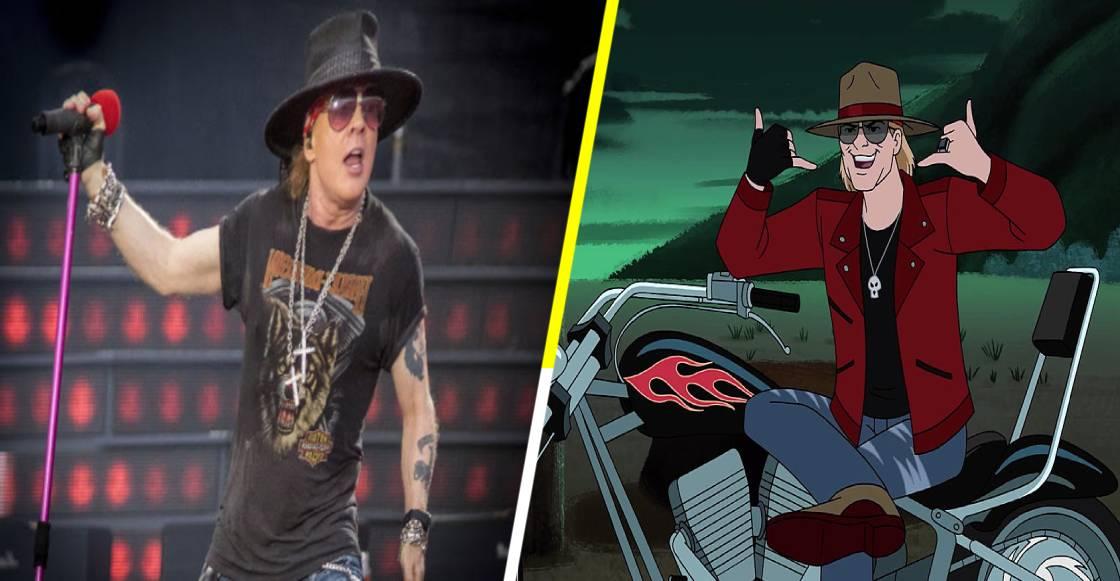 Así es el cameo de Axl Rose en un capítulo de Scooby Doo
