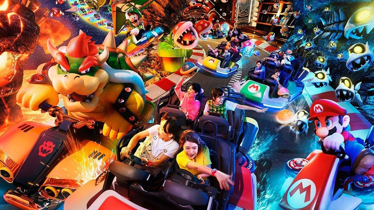 ¡Nerdgasmo! Así se ve la atracción de Mario Kart en Super Nintendo World