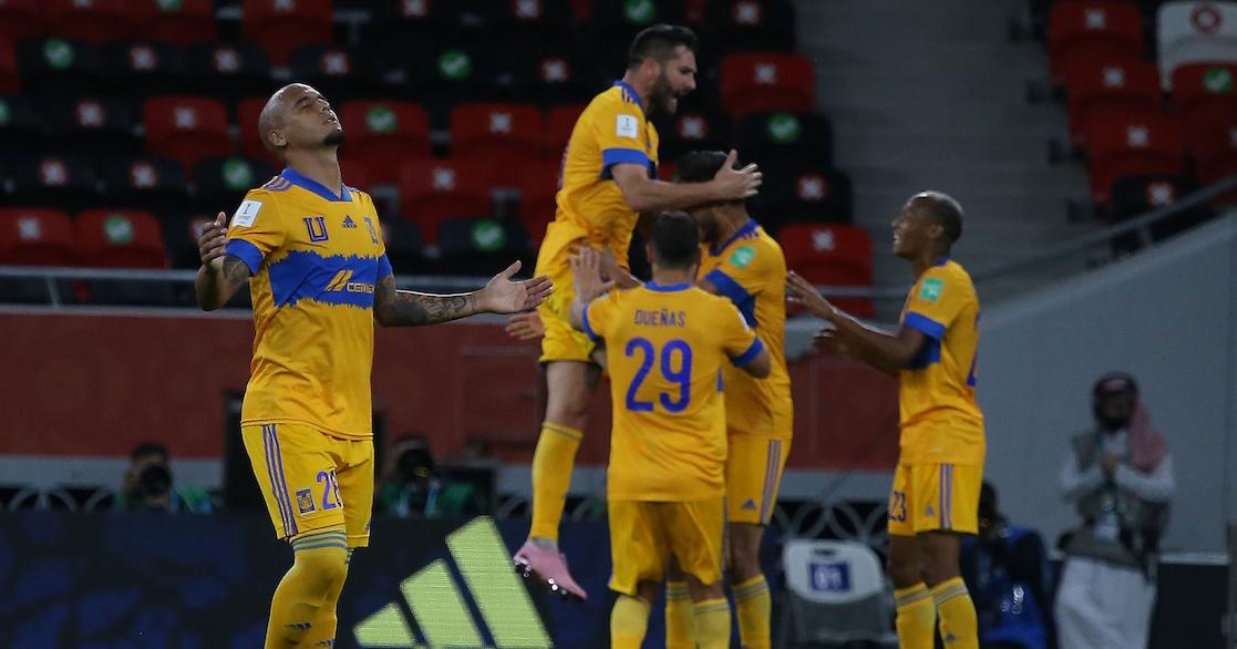 Tigres celebra gol en el Mundial de Clubes